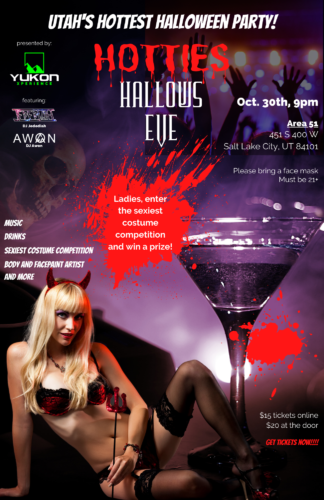 Hotties Hallows Eve Poster (1)